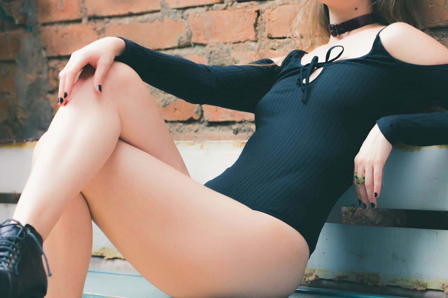 Woman in Black Leotards