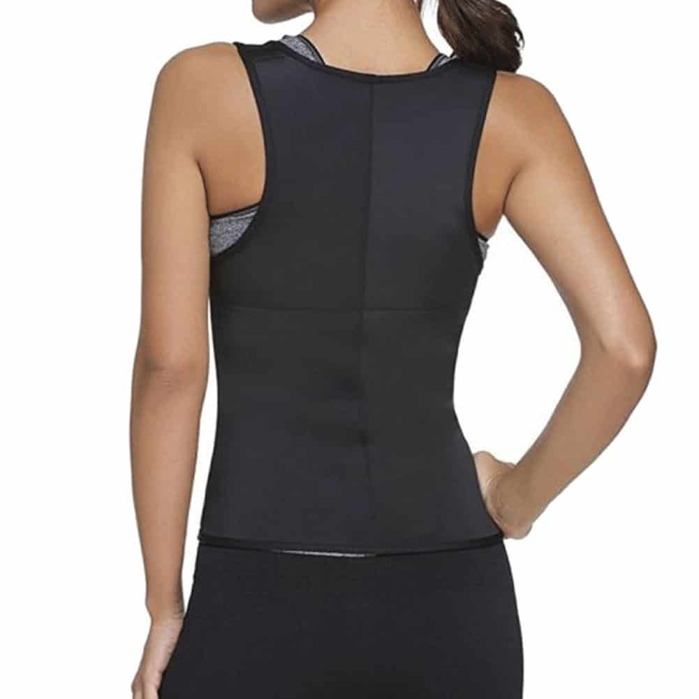 Neoprene Sauna Slimming Waist Trainer Vest Back