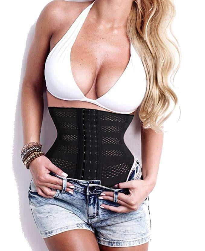 SAYFUT Waist Trainer Corset When Worn